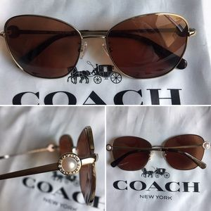 Coach sunglasses Butterfly L1090 shiny gold